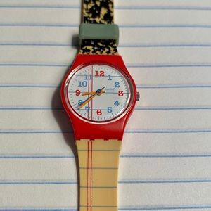 """Vintage Swatch Watch """"Notebook"""""""